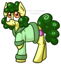 Size: 467x487 | Tagged: safe, artist:alittleofsomething, oc, oc only, oc:peony, earth pony, pony, clothes, female, mare, raised hoof, simple background, solo, transparent background
