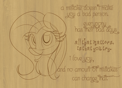Size: 1024x736 | Tagged: artist:littleblackraencloud, doodle, female, fluttershy, mare, monochrome, motivational, pegasus, pony, safe, solo, text