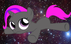 Size: 1200x750 | Tagged: safe, artist:igorshad0w, edit, oc, oc:pixie lulamoon, pony, unicorn, cute, female, filly, mare, recolor, solo, space, space background