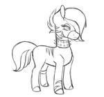Size: 700x650 | Tagged: safe, artist:pony--universe, oc, oc only, monochrome, sketch, solo