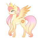 Size: 1000x900 | Tagged: alternate design, artist:pony--universe, female, mare, new design, pony, princess celestia, safe, simple background, solo, transparent background