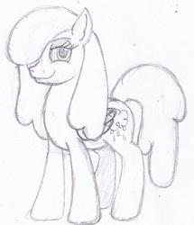 Size: 436x507 | Tagged: safe, oc, oc only, oc:raincloud drops, pegasus, pony, simple background, sketch, solo, white background