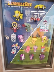 Size: 1280x1707 | Tagged: safe, applejack, fluttershy, pinkie pie, rainbow dash, rarity, spike, starlight glimmer, twilight sparkle, alicorn, dragon, earth pony, pegasus, pony, unicorn, autobot, bumblebee (movie), bumblebee (transformers), clash of hasbro's titans, cowboy hat, cutie mark crew, decepticon, derp, female, funny, grimlock, happy meal, hat, irl, male, mane seven, mane six, mare, mcdonald's, mcdonald's happy meal toys, megatron, optimus prime, photo, shockwave, starscream, toy, transformers, twilight sparkle (alicorn), united states, wall of tags, windblade, you had one job