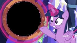 Size: 1920x1080 | Tagged: safe, edit, edited screencap, screencap, twilight sparkle, alicorn, pony, sounds of silence, female, magic, magic aura, mare, shield, simple background, telekinesis, template, transparent background, twilight sparkle (alicorn)