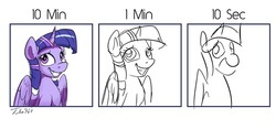 Size: 1200x560 | Tagged: safe, artist:tsitra360, twilight sparkle, alicorn, pony, challenge, female, simple background, sketch, solo, twilight sparkle (alicorn), white background