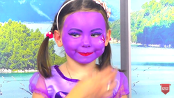 Size: 1280x720 | Tagged: safe, twilight sparkle, human, clothes, cosplay, costume, irl, irl human, makeup, nightmare fuel, photo, uncanny valley, wat