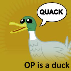 Size: 1024x1024 | Tagged: safe, duck, mallard, derpibooru, meta, official spoiler image, op is a duck, op is a duck (reaction image), reaction image, simple background, spoilered image joke, transparent background