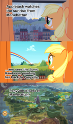 Size: 1280x2160 | Tagged: analysis, applejack, compass, female, filly, filly applejack, manehattan, map, map of equestria, mind blown, observation, ponyville, safe, sonic rainboom, the cutie mark chronicles, theory, younger