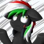 Size: 3000x3000 | Tagged: safe, artist:yoshimaru, oc, oc only, oc:shadowblack, abstract background, bored, bust, cute, headphones, hungarian, solo