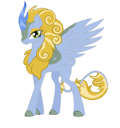 Size: 867x922 | Tagged: safe, artist:cosmicxlight, oc, oc only, oc:frost shine, kirin, winged kirin, cloven hooves, colored hooves, female, kirin oc, scale, simple background, solo, spread wings, transparent background, vector, wings