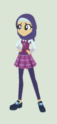 Size: 314x675 | Tagged: artist:obeliskgirljohanny, clothes, crystal prep academy uniform, equestria girls, female, hijab, human, islam, oc, oc:indigo bloom, oc only, safe, school uniform, solo