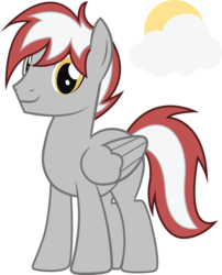 Size: 2311x2855 | Tagged: artist:duskthebatpack, folded wings, male, oc, oc only, oc:silver sky, pegasus, pony, safe, simple background, smiling, solo, stallion, standing, transparent background, vector