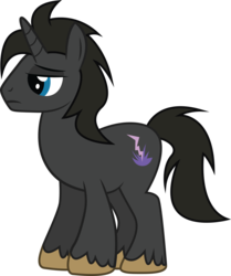 Size: 2317x2774 | Tagged: artist:duskthebatpack, lidded eyes, male, oc, oc only, oc:thunder draft, pony, safe, simple background, solo, stallion, standing, transparent background, unicorn, unshorn fetlocks, vector