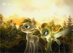 Size: 2388x1750 | Tagged: 3d, artist:ilucky7, female, male, mare, oc, oc only, pegasus, pony, safe, shipping, stallion, straight