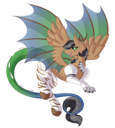 Size: 5488x6095 | Tagged: absurd res, artist:amazing-artsong, draconequified, draconequus, draconequus oc, female, oc, oc:artsong, safe, simple background, smiling, solo, species swap, transparent background