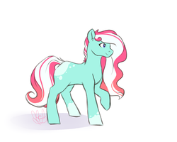 Size: 1000x800 | Tagged: artist:mah521, earth pony, female, mare, oc, oc:sweet mint, pony, safe, simple background, solo, white background