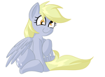 Size: 2051x1523 | Tagged: safe, artist:nevaylin, derpy hooves, cute, female, sitting, solo