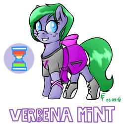 Size: 1400x1400 | Tagged: safe, artist:frecklesfanatic, oc, oc only, oc:verbena mint, earth pony, pony, commission, female