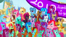 Size: 1920x1080 | Tagged: safe, artist:徐詩珮, applejack, autumn blaze, capper dapperpaws, fizzlepop berrytwist, fluttershy, glitter drops, pinkie pie, princess skystar, rainbow dash, rarity, spring rain, tempest shadow, twilight sparkle, oc, alicorn, earth pony, hippogriff, hybrid, kirin, pegasus, pony, unicorn, my little pony: the movie, sounds of silence, 2019, alicornified, autumnjack, capperity, eye scar, female, flutterdash, glitterblaze, glittershadow, half-siblings, happy new year, happy new year 2019, holiday, interspecies offspring, kirin oc, lesbian, magical lesbian spawn, male, mane six, next gen mane six, next generation, offspring, parent:applejack, parent:autumn blaze, parent:capper, parent:fluttershy, parent:glitter drops, parent:pinkie pie, parent:princess skystar, parent:rainbow dash, parent:rarity, parent:spring rain, parent:tempest shadow, parent:twilight sparkle, parents:autumnjack, parents:capperity, parents:flutterdash, parents:glitterblaze, parents:glittershadow, parents:skypie, parents:springdrops, parents:springshadow, parents:tempestlight, race swap, scar, shipping, sisters, skypie, springdrops, springshadow, straight, tempest shadow's friends, tempestlight, twilight sparkle (alicorn)