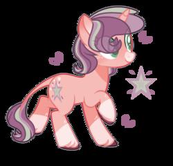 Size: 1776x1704 | Tagged: safe, artist:jxst-alexa, oc, oc only, pony, unicorn, female, leonine tail, magical lesbian spawn, mare, offspring, parent:applejack, parent:starlight glimmer, parents:glimmerjack, simple background, solo, transparent background, unshorn fetlocks