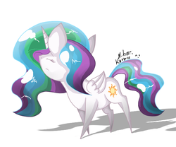 Size: 600x500 | Tagged: safe, artist:hilloty, princess celestia, alicorn, pony, chibi, solo
