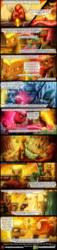 Size: 1200x5238 | Tagged: artist:bonaxor, comic, comic:the greater flame, fire pony, food, meat, oc, oc:firespite, oc:firexia, oc:infernox, oc:pyhrra, queen chrysalis, safe