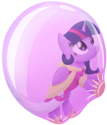 Size: 1834x2153 | Tagged: alicorn, artist:bladedragoon7575, bubble, clothes, coronation dress, dress, hoof shoes, in bubble, pony, safe, simple background, transparent background, trapped, twilight sparkle, twilight sparkle (alicorn)