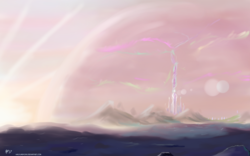 Size: 1920x1200 | Tagged: artist:halflingpony, crystal empire, dawn, no pony, safe, scenery, sunrise