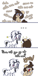 Size: 800x1615   Tagged: safe, artist:lou, oc, oc:louvely, oc:que bien, earth pony, pony, zebra, ..., comic, date, quevely, shipping, zebra oc