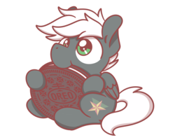 Size: 2560x2048 | Tagged: safe, artist:sugar morning, oc, oc only, oc:summer breeze, pegasus, pony, chibi, cookie, cute, eating, food, male, nibbling, nom, oreo, simple background, sitting, solo, stallion, transparent background