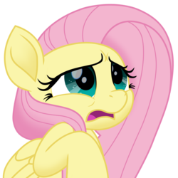 Size: 5833x5825 | Tagged: absurd res, artist:ejlightning007arts, female, fluttershy, mare, my little pony: the movie, open mouth, pegasus, pony, safe, scared, simple background, solo, transparent background, vector