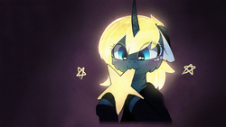Size: 1920x1080 | Tagged: :3, alicorn, alternate hair color, artist:magnaluna, cute, eating, edible heavenly object, edit, female, floppy ears, hnnng, lunabetes, mare, nom, pony, princess luna, safe, smiling, solo, tangible heavenly object, wallpaper, wallpaper edit