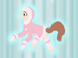 Size: 1585x1200 | Tagged: safe, oc, oc:pink spirit, pony, other realm, winter, winter clothes, winter coat, winter outfit