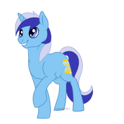 Size: 700x700 | Tagged: safe, artist:darkodraco, minuette, pony, unicorn, female, mare, raised hoof, simple background, smiling, solo, transparent background