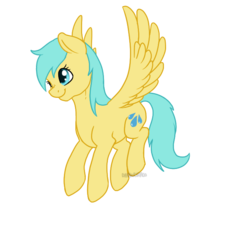 Size: 700x700 | Tagged: safe, artist:darkodraco, sunshower raindrops, pegasus, pony, female, flying, mare, simple background, smiling, solo, spread wings, transparent background, wings