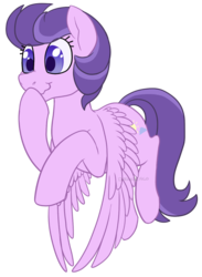 Size: 732x1000 | Tagged: artist:darkodraco, clear skies, female, flying, mare, pegasus, pony, raised hoof, safe, simple background, smiling, solo, spread wings, transparent background, wavy mouth, wings