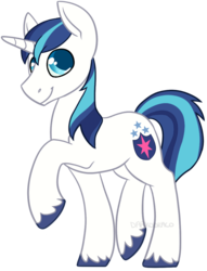Size: 763x1000 | Tagged: artist:darkodraco, male, pony, raised hoof, safe, shining armor, simple background, smiling, solo, stallion, transparent background, unicorn, unshorn fetlocks