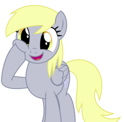 Size: 9000x8858 | Tagged: absurd res, artist:kuren247, cross-eyed, cute, derpy hooves, female, food, happy, muffin, pegasus, pony, safe, simple background, smiling, solo, squishy cheeks, vector