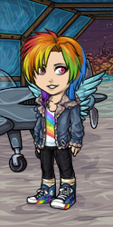 Size: 125x250 | Tagged: aircraft, converse, dressup, dressup game, human, humanized, rainbow dash, safe, shoes, sneakers, subeta, subeta.net, winged humanization, wings