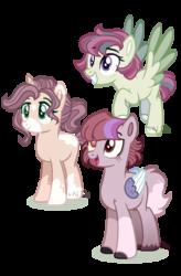 Size: 1024x1562   Tagged: safe, artist:at--ease, oc, oc only, hybrid, pony, unicorn, female, interspecies offspring, male, mare, offspring, parent:discord, parent:flash magnus, parent:fluttershy, parent:rainbow dash, parent:sunburst, parent:twilight sparkle, parents:dashmagnus, parents:discolight, parents:flutterburst, simple background, stallion, transparent background
