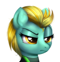 Size: 1772x1845   Tagged: safe, artist:ravensunart, lightning dust, pegasus, pony, the washouts (episode), angry, annoyed, clothes, displeased, female, mare, raised eyebrow, simple background, solo, the washouts, transparent background, uniform, washouts (team), washouts uniform
