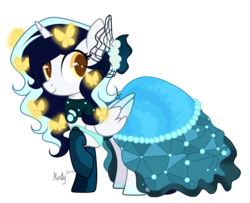 Size: 1280x1041 | Tagged: safe, artist:mintoria, oc, oc only, oc:roxy lovli pop, alicorn, pony, alicorn oc, clothes, dress, female, gala dress, mare, simple background, solo, transparent background
