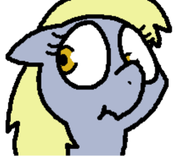 Size: 417x367 | Tagged: animated, animated png, artist:pokehidden, banned from equestria daily, blushing, derpy hooves, female, mare, pegasus, pony, safe, simple background, solo, spoiler:banned from equestria daily 1.5, tongue out, transparent background