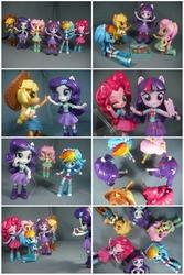 Size: 4016x6000   Tagged: safe, artist:krisanderson97, applejack, fluttershy, pinkie pie, rainbow dash, rarity, twilight sparkle, alicorn, equestria girls, absurd resolution, clothes, doll, equestria girls minis, female, humane five, humane six, irl, photo, selfie, toy, twilight sparkle (alicorn)