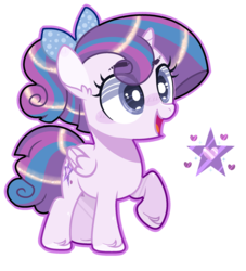 Size: 2008x2216 | Tagged: alicorn, artist:jxst-alexa, bow, female, filly, hair bow, magical lesbian spawn, oc, offspring, parent:princess flurry heart, parents:flurrylight, parent:twilight sparkle, pony, product of incest, safe, solo
