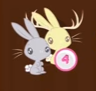 Size: 96x91 | Tagged: safe, jackalope, rabbit, no pony, picture for breezies