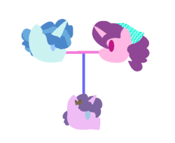 Size: 527x430 | Tagged: artist:berrypunchrules, family tree, female, male, oc, oc:mocha frizz, offspring, parent:party favor, parents:partybelle, parent:sugar belle, partybelle, party favor, pony, safe, shipping, simple background, straight, sugar belle, transparent background, unicorn