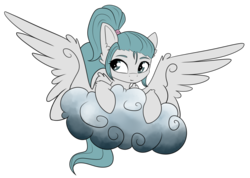 Size: 3736x2656 | Tagged: artist:kxttponies, cloud, female, mare, oc, oc:kitt, pegasus, pony, safe, simple background, solo, transparent background