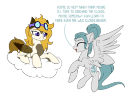 Size: 3000x2250 | Tagged: artist:kxttponies, cloud, female, goggles, mare, oc, oc:indigo skies, oc:kitt, oc only, pegasus, pony, prone, safe, simple background, transparent background