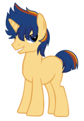 Size: 938x1358 | Tagged: artist:sapphireartemis, male, oc, oc:solar shield, offspring, parent:flash sentry, parents:flashlight, parent:twilight sparkle, pony, safe, simple background, solo, stallion, transparent background, unicorn